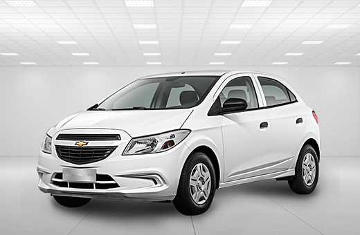 Cor do carro Chevrolet novo Onix Joy Branco Summit 2018