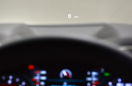 Tecnologia Chevrolet HUD do Camaro SS conversível 2017