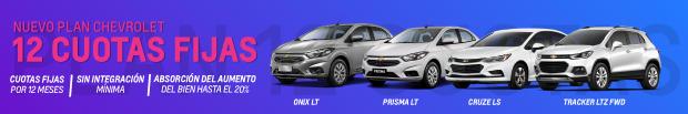 Nuevo Plan Chevrolet 12 cuotas fijas
