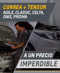 Oferta en correa y tensor para Chevrolet Agile, Classic, Celta, Corsa, Onix y Prisma
