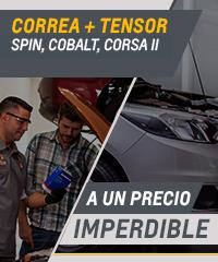 Oferta en correa y tensor para Chevrolet Spin, Cobalt y Corsa