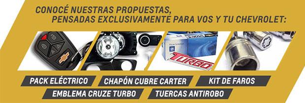 Accesorios Chevrolet en Fraga Automotores