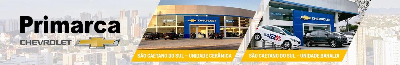 Venda e ofertas de carros novos e seminovos na concessionária Chevrolet Primarca São Caetano do Sul.  Peças genuínas GM, acessórios automotivos originais e serviços de manutenção e revisão de veículos.