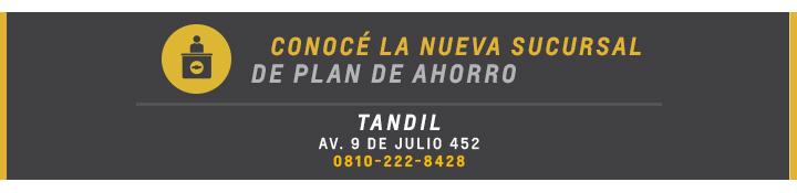 Nueva sucursal en Tandil para Plan de Ahorro en Chevrolet Thaun