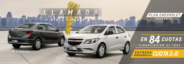 Plan Chevrolet Express: Llamada Nacional