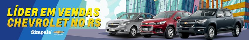 Venda e ofertas de carros novos e seminovos na concessionária Chevrolet Simpala de Porto Alegre . Peças genuínas GM, acessórios automotivos originais e serviços de manutenção e revisão de veículos.