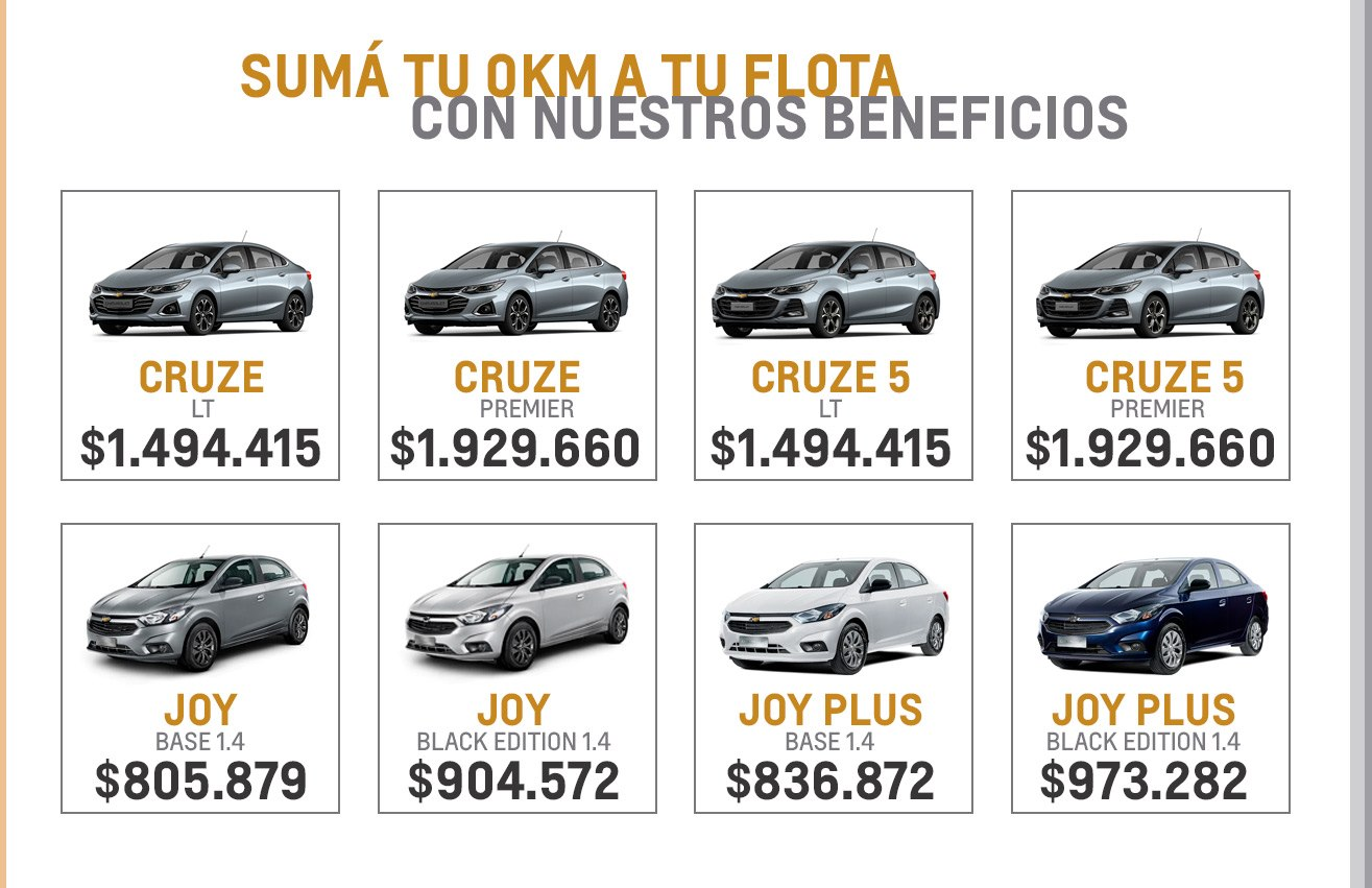Beneficios increíbles en Ventas Corporativas en Chevrolet Car One