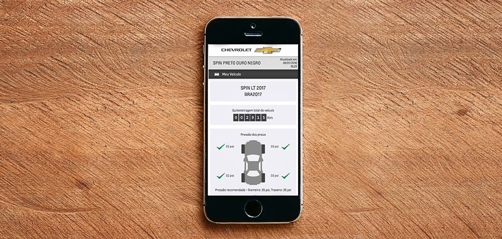 Chevrolet OnStar conta com um app exclusivo para clientes.